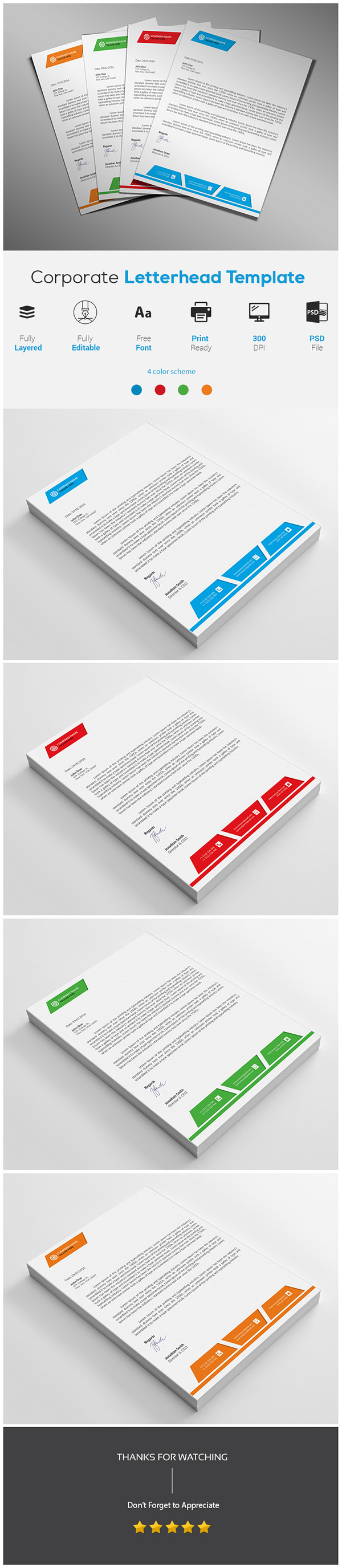 Corporate Mercial Letterhead Template On Student Show