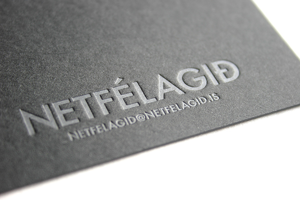 Silver On Black Letterpress Business Card On Behance