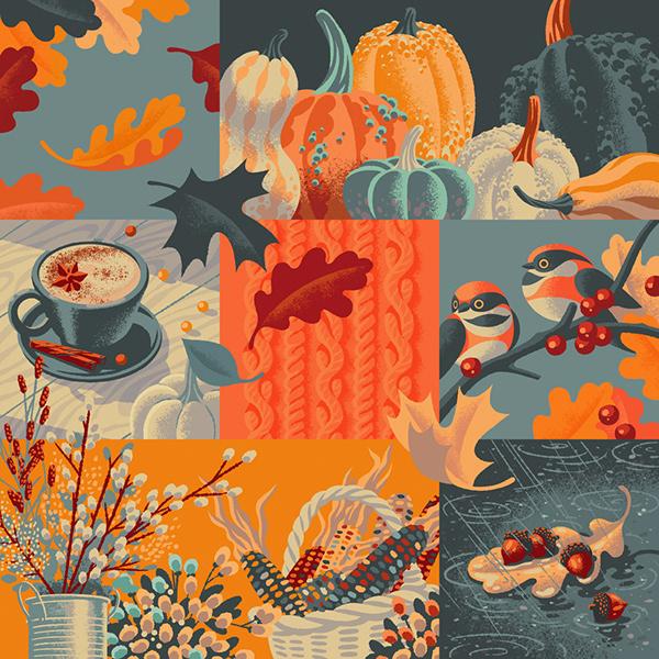 Autumn Vibes on Pantone Canvas Gallery