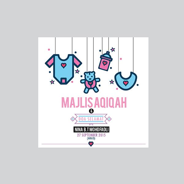 Invitation Card Majlis Aqiqah On Wacom Gallery