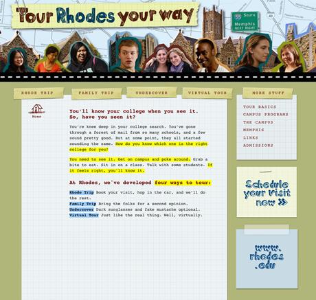 Web viewbook Direct Recruiting college