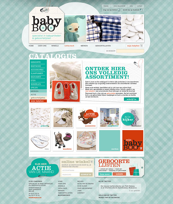 baby Webdesign pattern blue