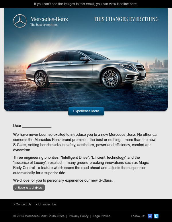 mercedes benz best performed newsletter s class on behance