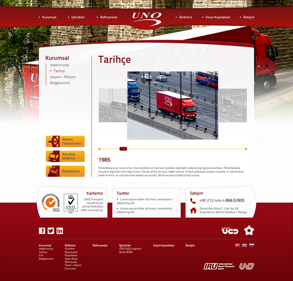 UNO Transport Website on Student Show