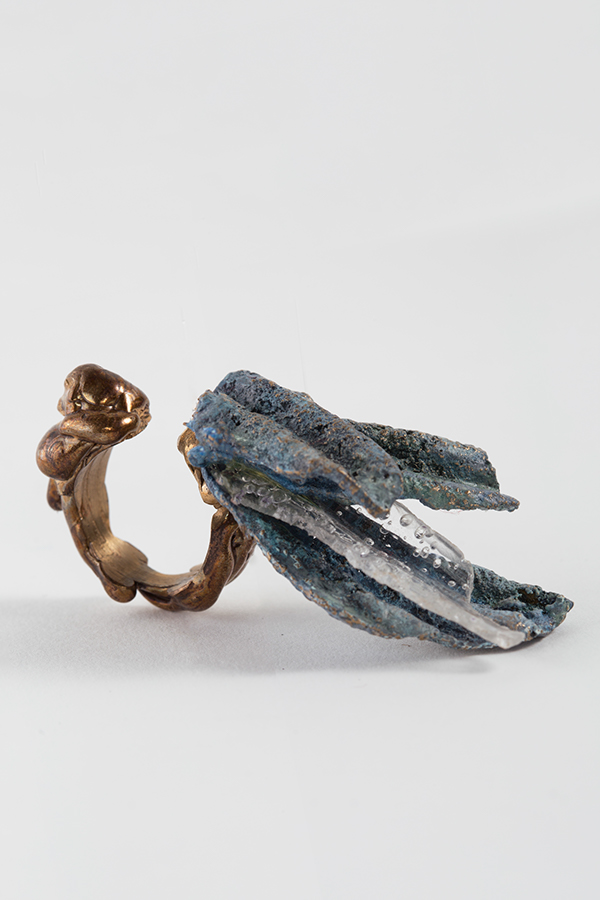 jewelry potatochips bronze ring fashionjewelry paint colorful design