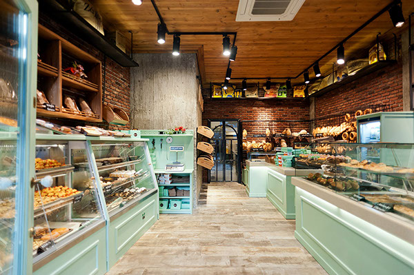 Constantinos bikas interior designer kogia bakery on behance for Bakery shop interior decoration