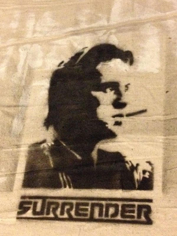 stencil Wall street gordon gekko smoking cigar
