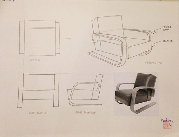 Furniture design sketches on behance for Furniture design sketches