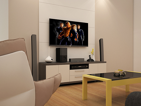 Interior Home Theater ambiente 3d