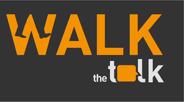 walk the talk logo and website on Behance
