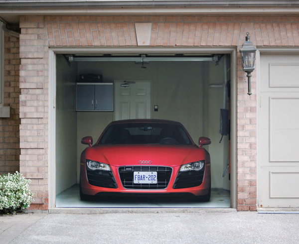 Audi r8 garage door cover on behance for Garage audi meaux