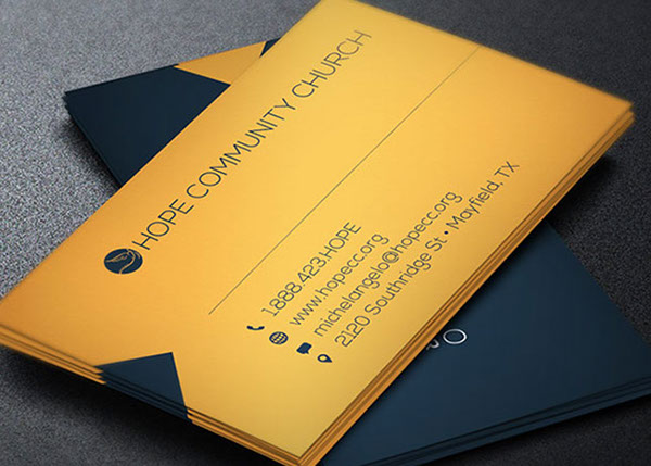 Pastor Business Cards