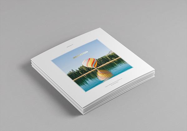 Мокап квадратные открытки