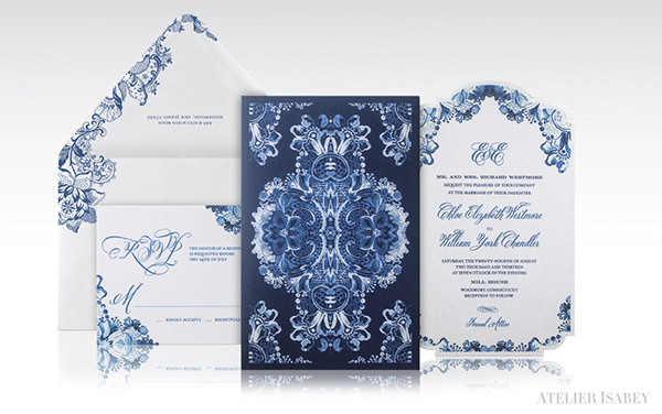 Blue And White Baroque China Wedding Invitation On Behance