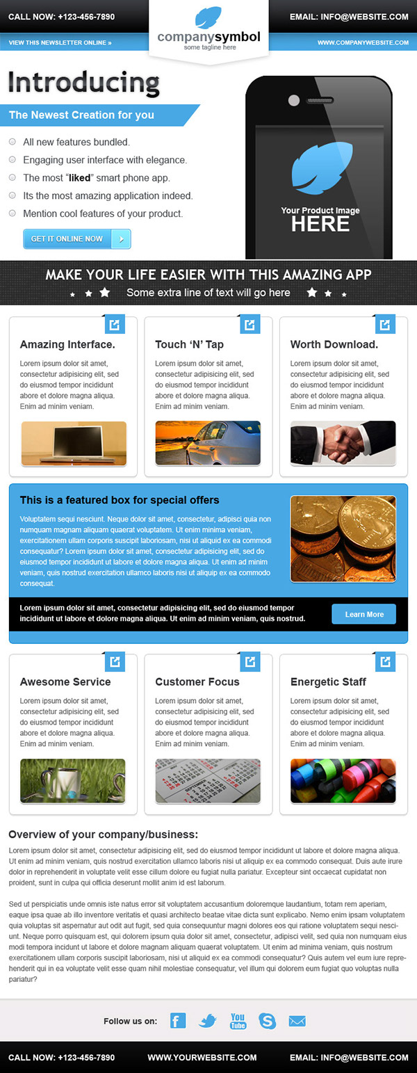 Business Email Newsletter Template On Behance