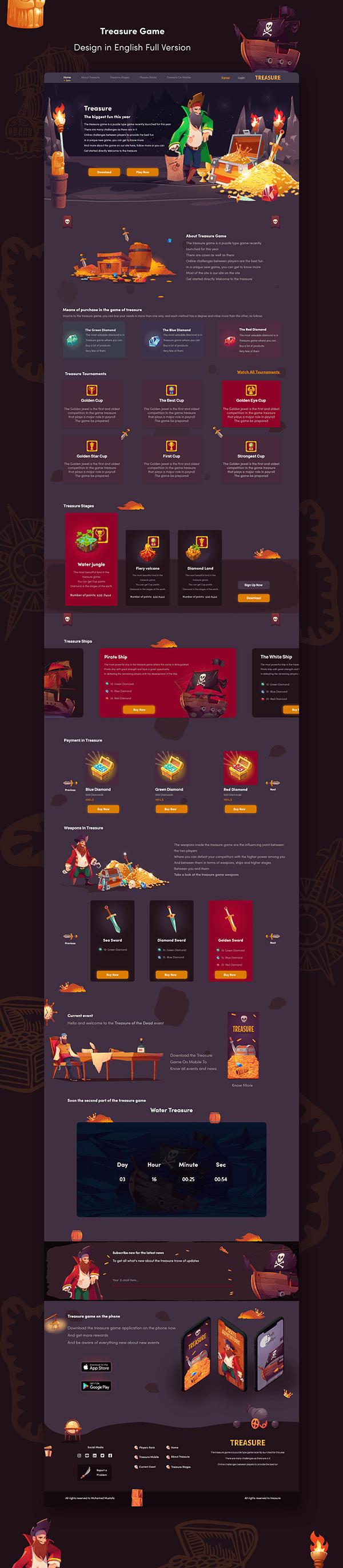 Pirate Treasure   UI UX Web & Mobile Design