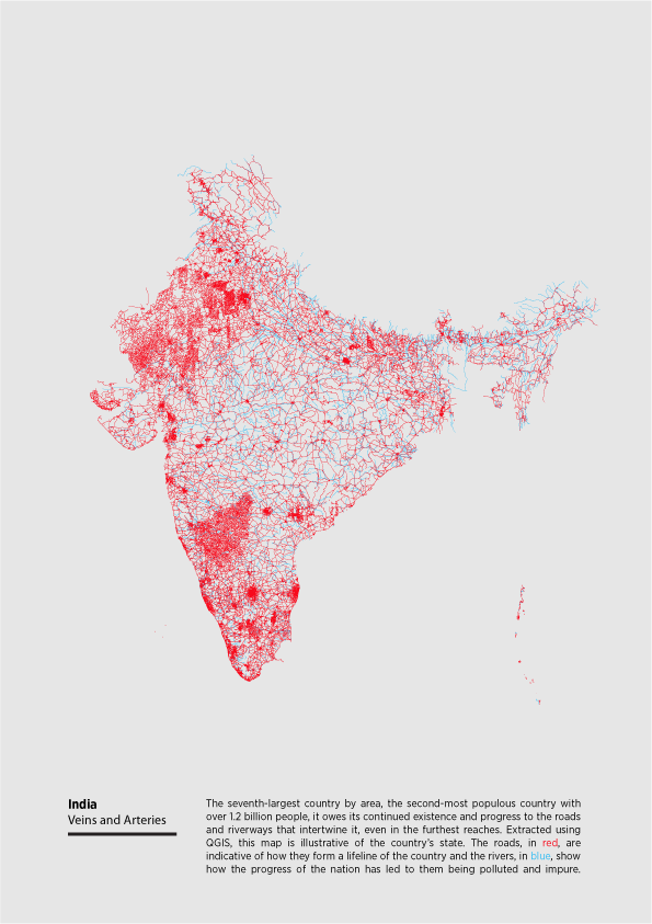 cartography maps India posters