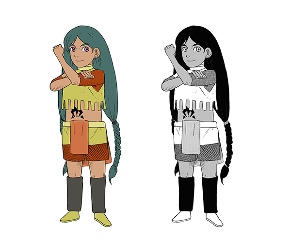 Character Design Appearance : Character designs on student show