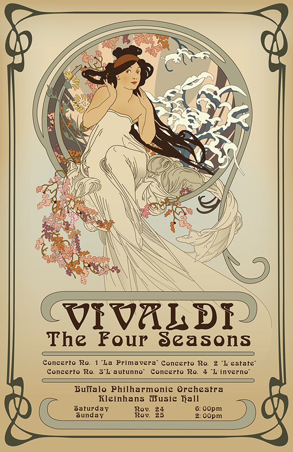 Art Nouveau Typography Poster Images