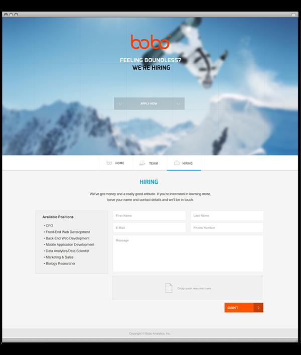 bobo logo and teaser website on behance