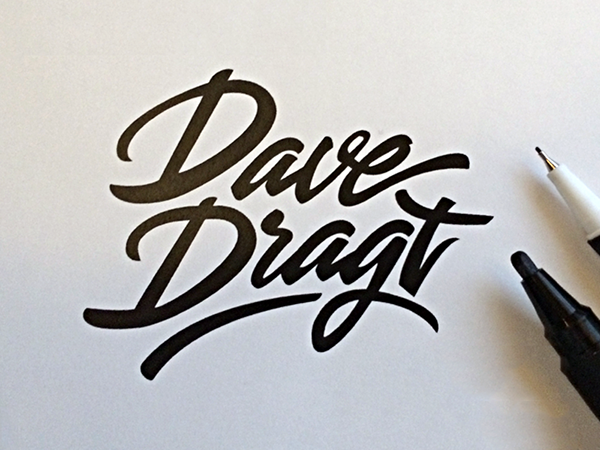 Lettering Works of Paul von Excite