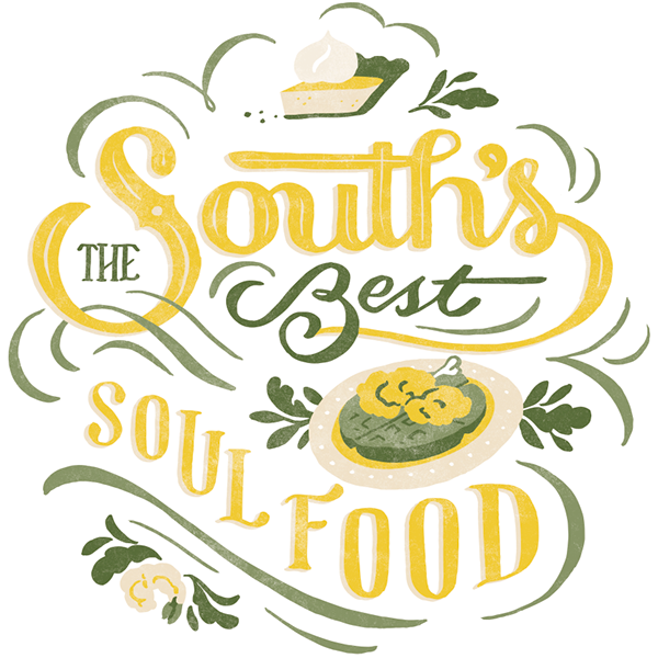 southern living magazine lettering on behance