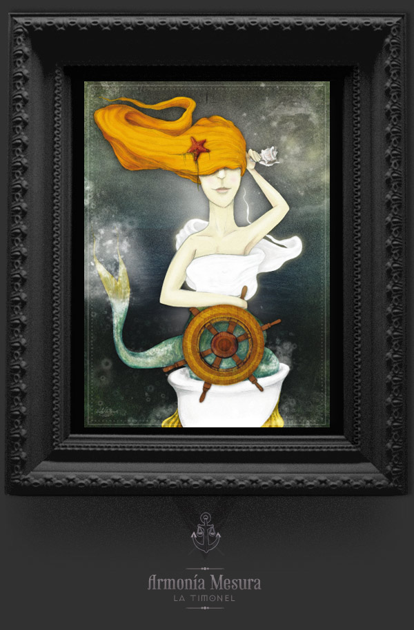 ilustracion mar mermaid sea Sailor retrato relatros lighthouse keeper Aviator relatos