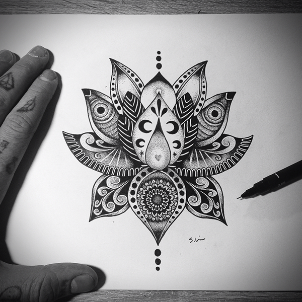 Lotus Flower Tattoo Design On Behance