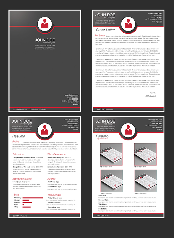 free modern resume template on behance
