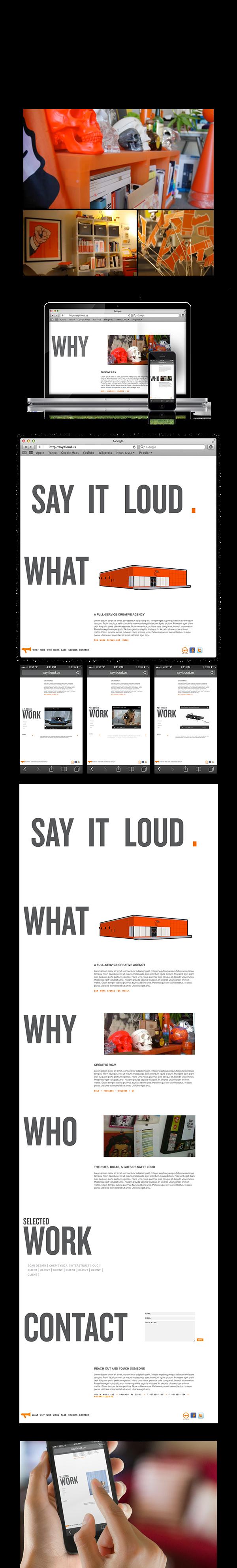 say it loud agency creative activist orange Proposal