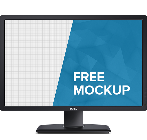 Mockup mock-up psd free monitor dell HD template download