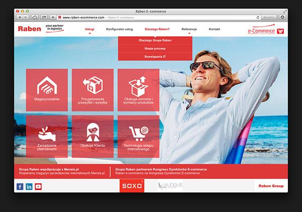 Raben Website rwd e-commerce