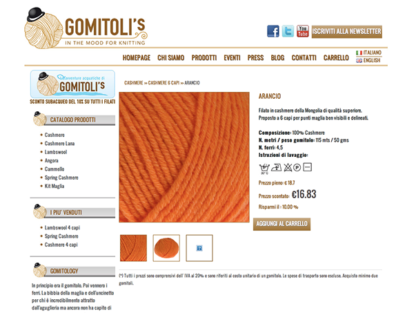 gomitolis Ecommerce bologna