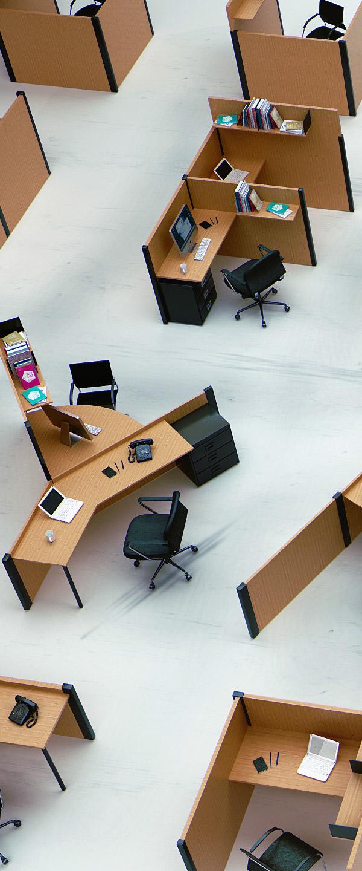 wood desk Open Space yard fold Office