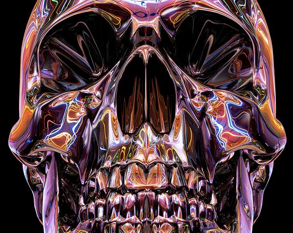 airbrush skull adidas 3D art c4d MoGraph