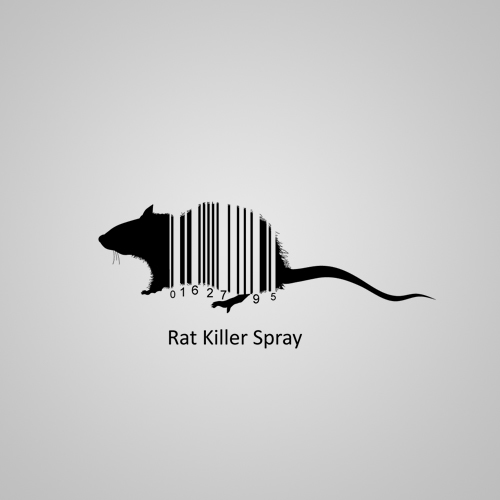 graphic design creative bar codes product Packaging print flower rat
