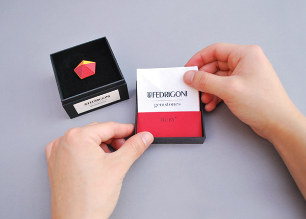 gemstones ycn fedrigoni paper craft ad campaign colour Fun Precious discover discovery exhixition Show