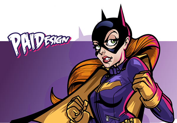 BATGIRL Vector Art by Paul Ainsworth
