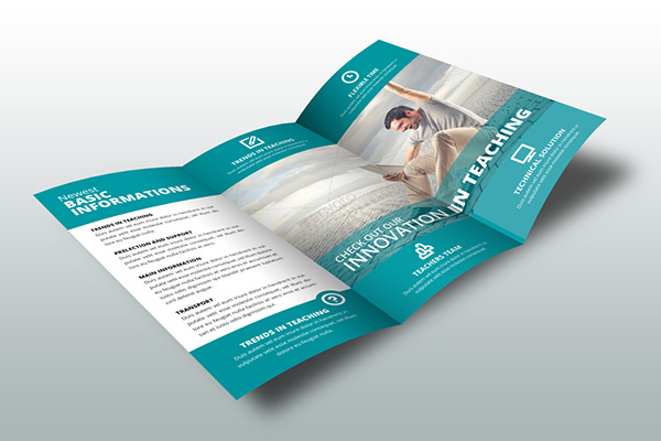 indesign brochure template school