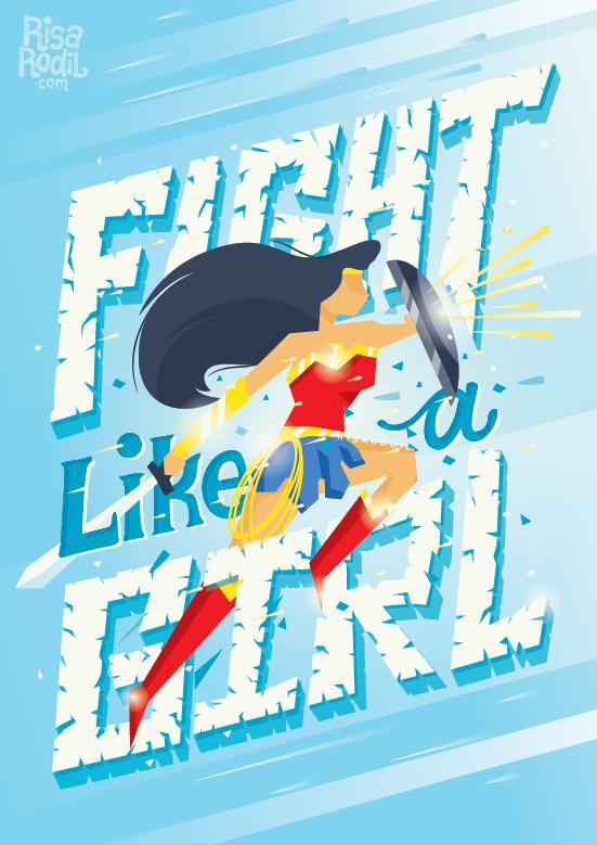 wonder woman lettering HAND LETTERING feminism feminist women empowerment Girl Power Dc Comics