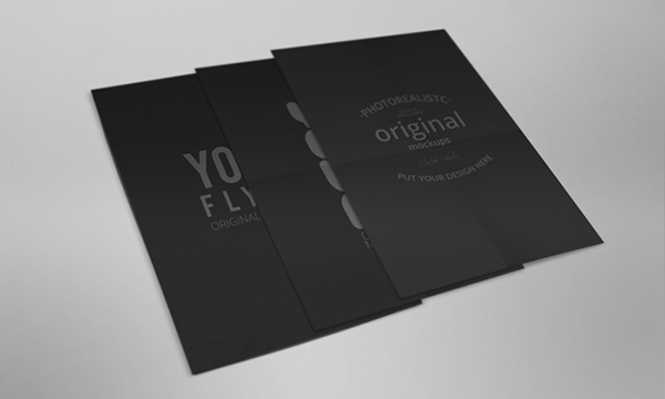 6fe9433e887 Flyer and Poster Mockup 01 on Behance