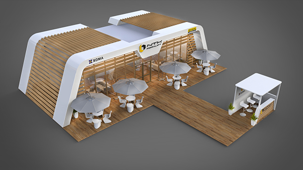 Exhibition Stand Outdoor : Posm outdoor expo stand on behance
