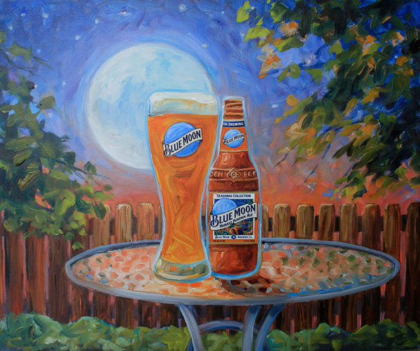 blue moon artfully crafted on behance