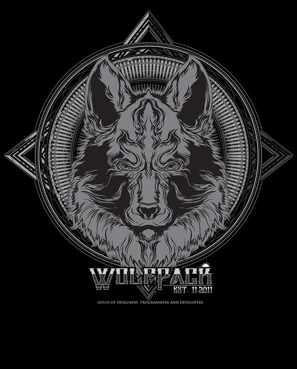 Wolf pack logo design - photo#20