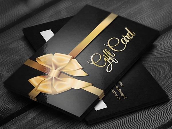 Elegant Golden Gift Cards on Behance