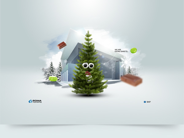 Christmas card animations Tree