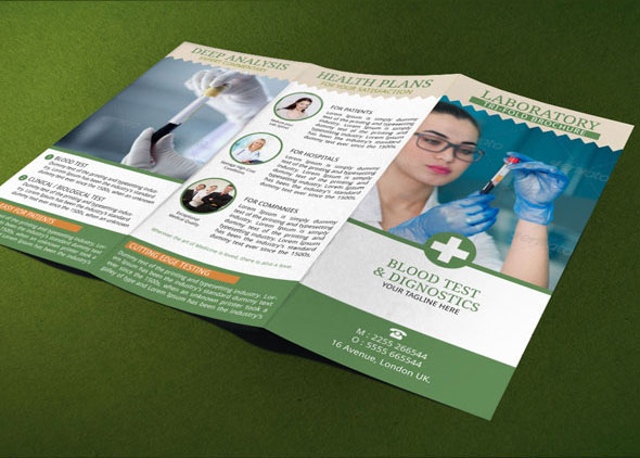 Medical Brochure Template Blood Test Lab On Behance