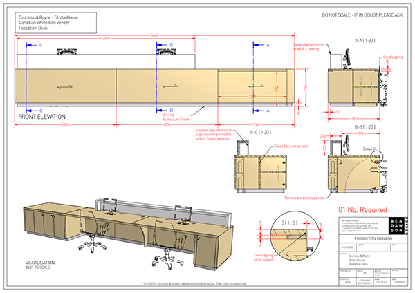 Reception Desk Designs Drawings a Bespoke Reception Desk For a