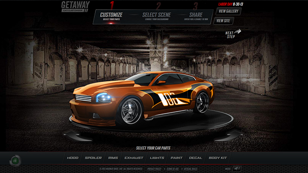 Getaway Car Customizer On Behance