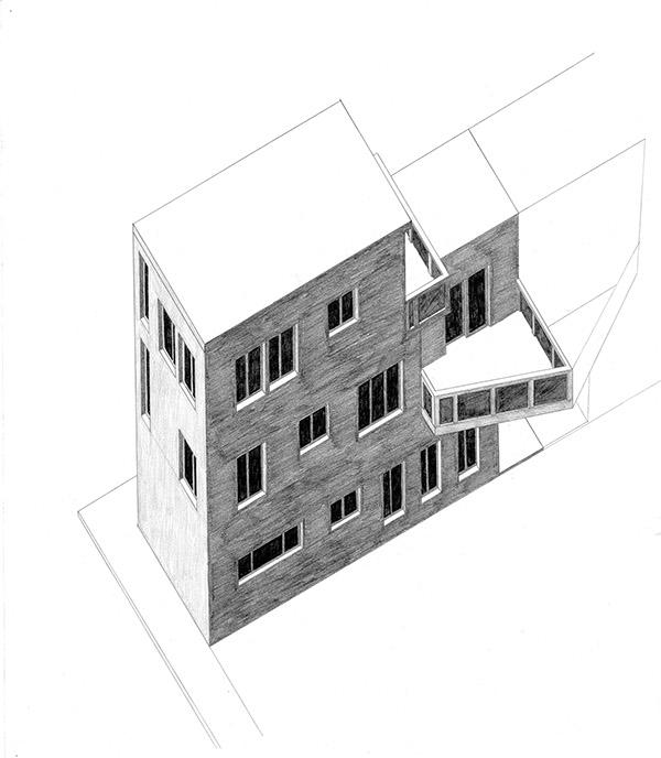 Philadelphia Row House, Design IV, Prof. Jacobs on Behance